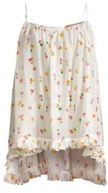 Caroline Constas Ruffle Floral Tunic