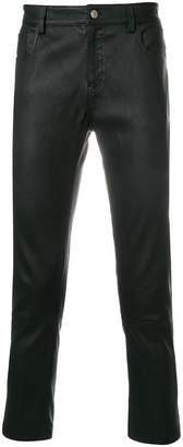 Ami Alexandre Mattiussi 5 Pockets Leather Pants In Smooth Leather