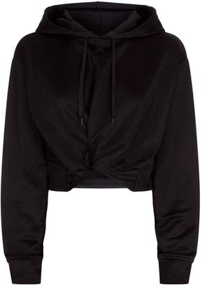 Alexander Wang Knot Front Cropped Hoodie