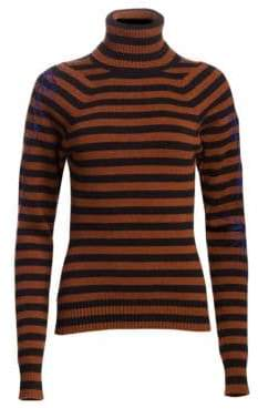Haider Ackermann Wool & Cashmere Stripe Turtleneck