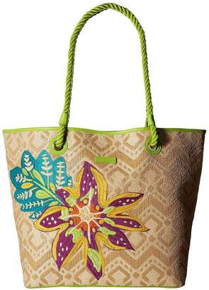 Vera Bradley Natural Straw Beach-Tote