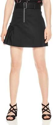 Sandro Vona Ruched A-Line Mini Skirt