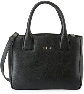 Furla Camilla Small Leather Tote Bag, Onyx $255 thestylecure.com