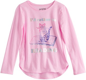 Girls 4-12 Jumping Beans Long Sleeve High-Low Hem Top