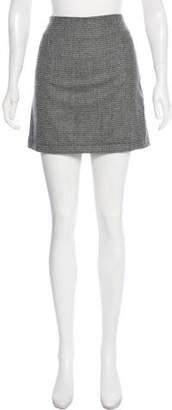 Simon Miller Houndstooth Wool-Blend Mini Skirt