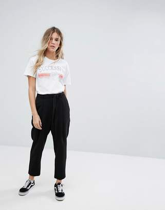 New Look Tie Waist Trousers