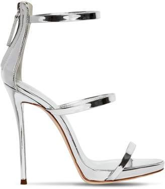 Giuseppe Zanotti Design 120mm Harmony Metallic Leather Sandals