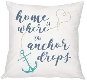 Cathy's Concepts Summer Gifts Anchor Throw Pillow