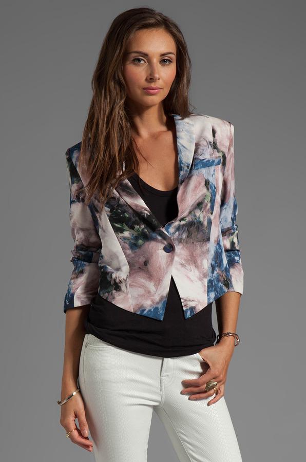 Haute Hippie Moody Floral Silk Jacket