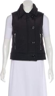 Michael Kors Button-Up Puffer Vest