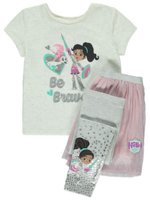 George Nella the Princess Knight Top, Skirt and Leggings Outfit