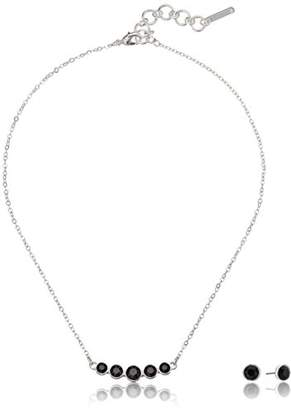 Nine West Silver-Tone and Necklace and Earrings Set