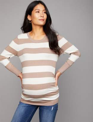 A Pea in the Pod Luxe Essentials Denim Side Ruched Maternity Sweater