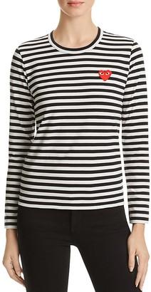 Comme Des Garcons PLAY Stripe Tee $151 thestylecure.com