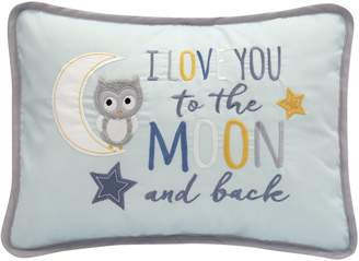 Lambs & Ivy Happi By Dena Night Owl I Love You To The Moon and Back Decorative Pillow
