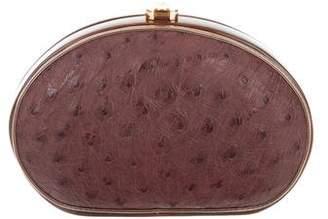 Rocio Ostrich Leather Clutch