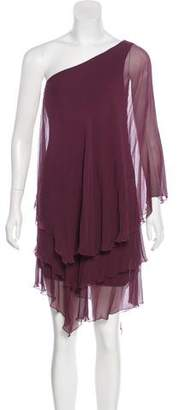 Galliano Silk One-Shoulder Dress