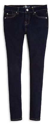 7 For All Mankind Girls' Dark Indigo Skinny Jeans - Big Kid