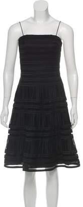 Carmen Marc Valvo A-Line Mesh Dress