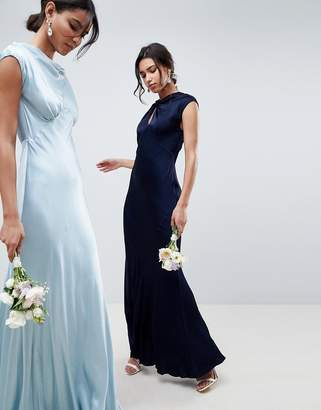 Ghost bridesmaid capped sleeve maxi dress with keyhole detail