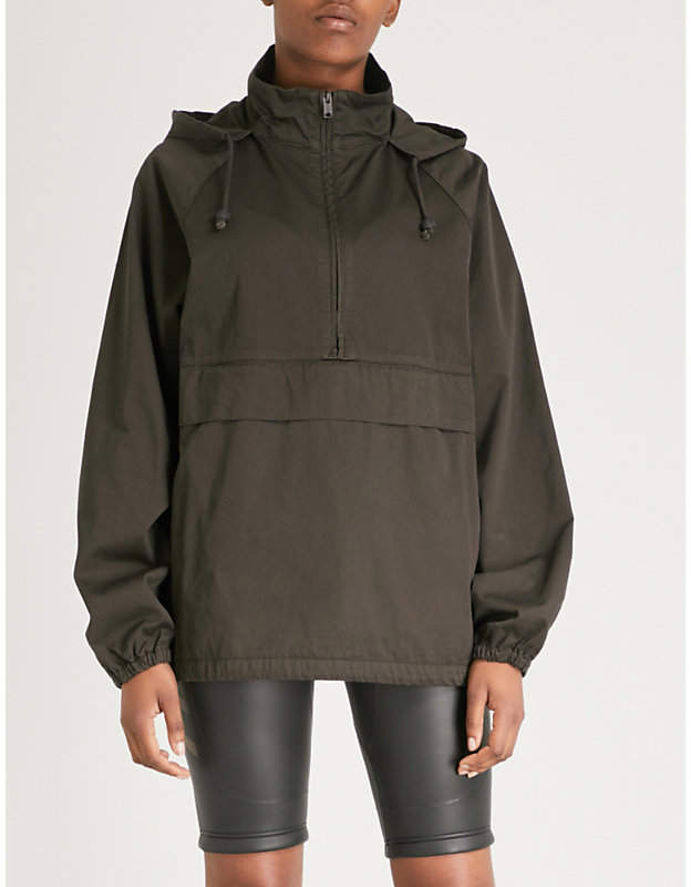 Season 6 half-zip cotton anorak
