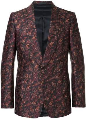 Gieves & Hawkes floral print blazer