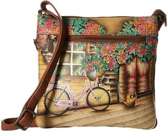 Anuschka 550 Expandable Travel Crossbody Handbags