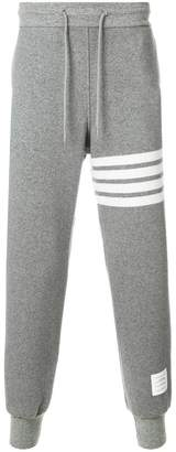 Thom Browne Engineered 4-Bar Stripe Cashmere Shell Sweatpants