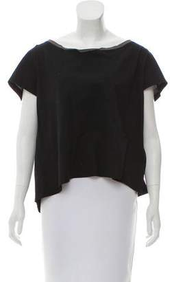 Hache Short Sleeve Paneled T-Shirt