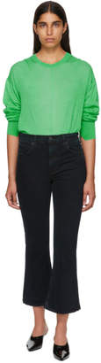 Proenza Schouler Black PSWL Cropped Flare Jeans