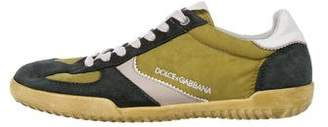 Dolce & Gabbana Suede Low-Top Sneakers