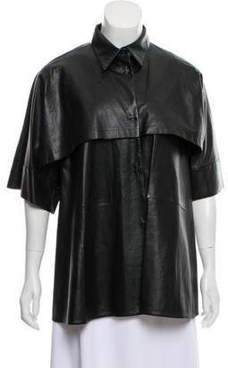 Marni Short Sleeve Leather Jacket