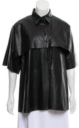 Marni Short Sleeve Leather Jacket
