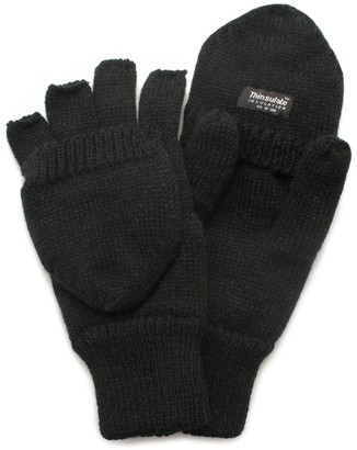 Quietwear QuietWear Knit Convertible Flip-Top Mittens - Men