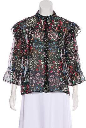 Walter Baker Aurora Floral Long Sleeve Top w/ Tags