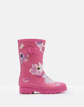 Joules Pink Large Floral Printed Wellies Size Childrens Size 1