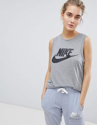 Nike Muscle Tank In Grey