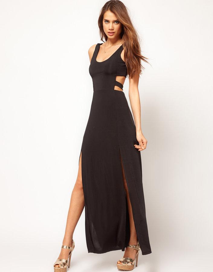 Paprika Jersey Cut Out Maxi Dress