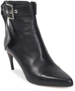 Alexander McQueen Leather Buckle Booties