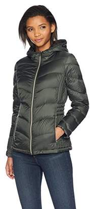 Lucky Brand Women's Short Packable Down Coat with Cinch Detail