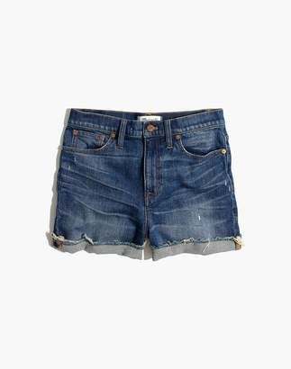 Madewell High-Rise Denim Boyshorts in Glenoaks Wash: Cutoff Edition