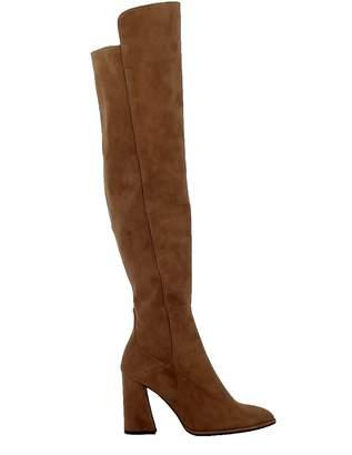 Stuart Weitzman Brown Nut Meg Suede Allhyped Overknee Boots