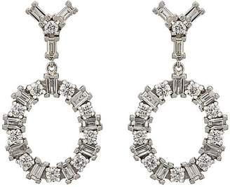 Ileana Makri Women's White Diamond Double-Drop Earrings