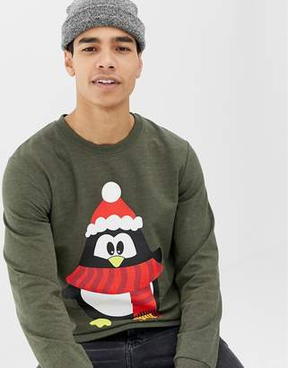 Jack and Jones Holidays Penguin Sweat Sweater