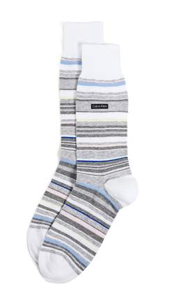 Calvin Klein Underwear Striped Crew Socks