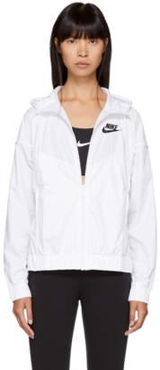 Nike White Windrunner Jacket