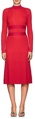 Cédric Charlier Women's Banded Wool Midi-Sweaterdress