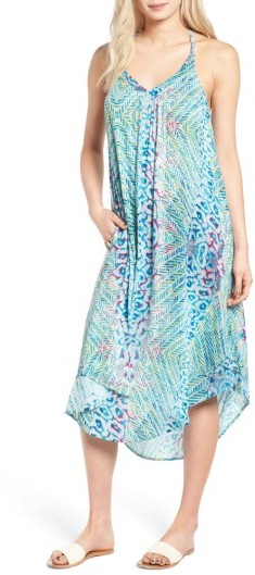 Women's Roxy Kat Fish Strappy Midi Dress