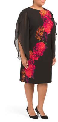 Plus Kimono Floral Dress