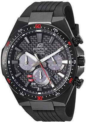 Casio Men's 'Edifice' Quartz Stainless Steel and Resin Casual Watch